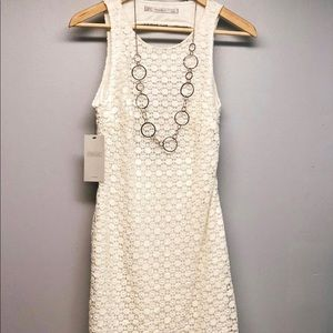ZARA BACKLESS DRESS Off White SIZE S